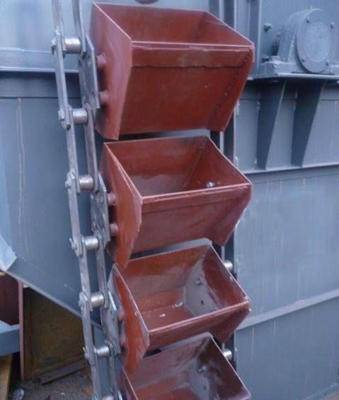 板链斗式提升机链条料斗安装